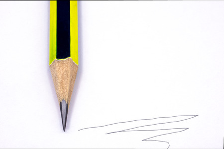 sharpened: Close Up of a Typical Black and Yellow Pencil