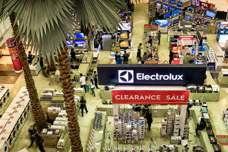 BANGKOK, THAILAND - August 27:Electrolux holds a clearance sale in The Mall Bangkhae shopping mall on August 27,2017 in Bangkok. Editorial