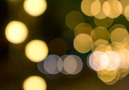 Lovely Golden Bokeh Background in the Evening Banco de Imagens