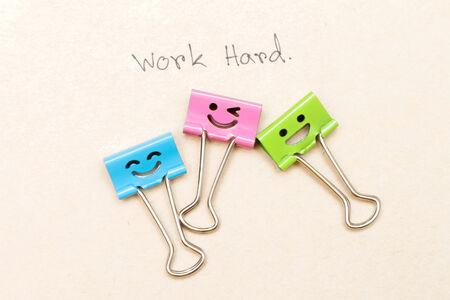 clip work happy photo