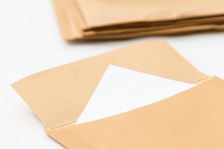 envelop: envelop on white  Stock Photo