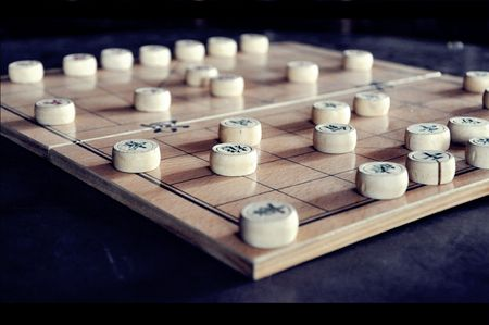 Chinese chess set with a touch of splendor photo