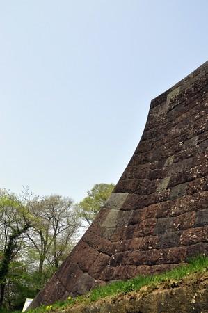 Stone foundation of Japan castle photo