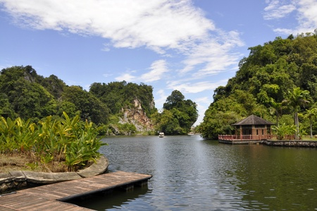 lang: natural scene at Gunung Lang, Perak, Malaysia