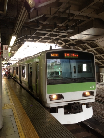 A departing yamanote line by Japan railway JR