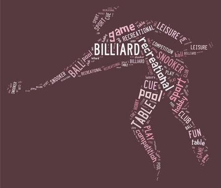 ピンクの背景のピンクの文言とビリヤード ピクトグラム 写真素材