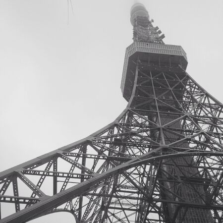 modern: Tokyo tower in grey color Stock Photo