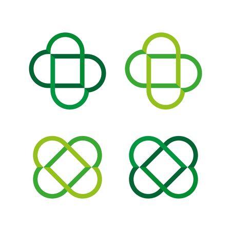 Two hearts symbol. Icon set. Vector.