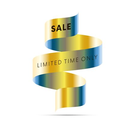 Sale time limited only on white background. Vector illustration.