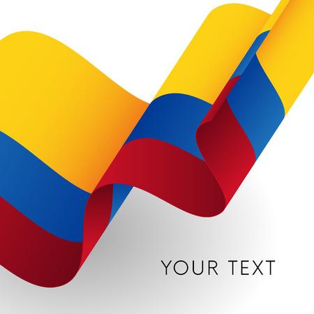Colombia flag. Patriotic design. Vector illustration. Ilustração