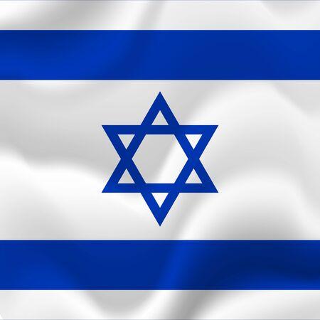 Israel flag background. Vector illustration.