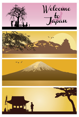 Japan Backgrounds Illustration