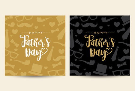 Fathers day greeting card template Illustration