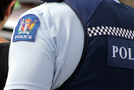 New Zealand police officer Banque d'images