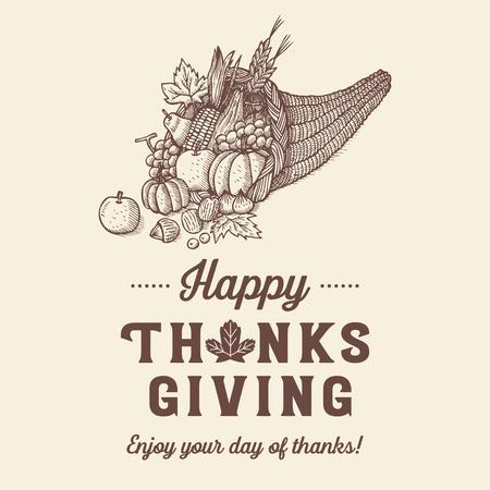 Mano dibuja el fondo de acción de gracias, ilustración vectorial Foto de archivo - 90315744