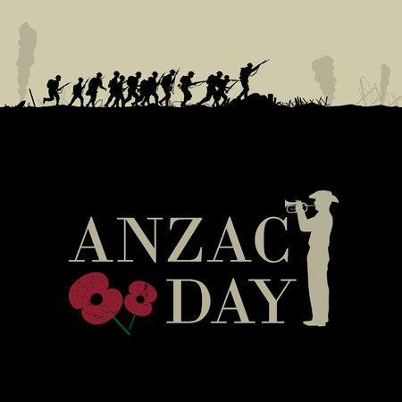 Anzac day vector illustration