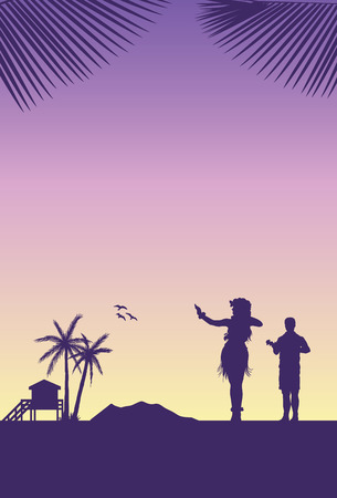 Summer Holidays Background, Vector illustration.