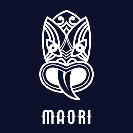 Maori mask icon