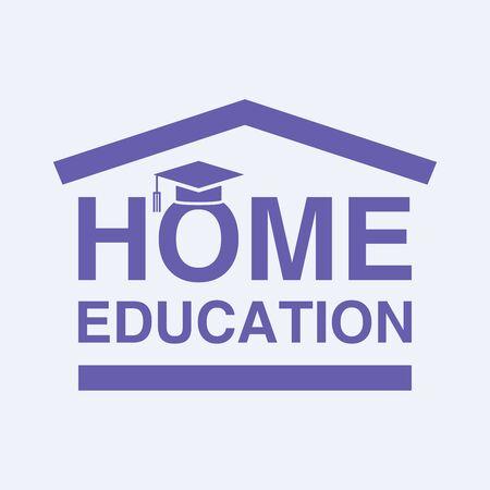 Home education   design. Vector