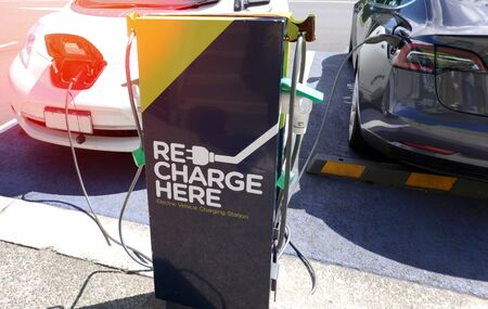 Electric car charging station in New Zealand