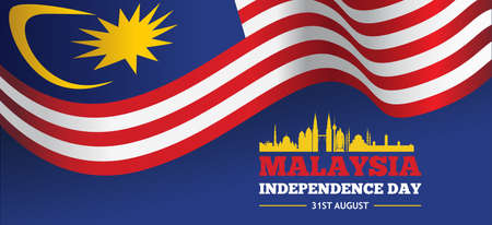 Malaysia Independence day banner. Vector