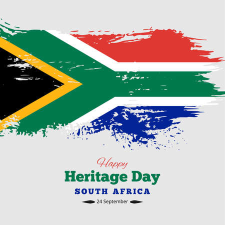 Happy Heritage Day South Africa Background, Vector Vettoriali
