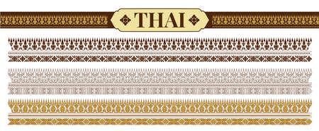 Traditional Thai patterns. Vector Illustration