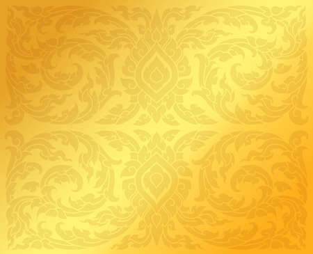 Traditional Thai patterns background. Vector Illustration