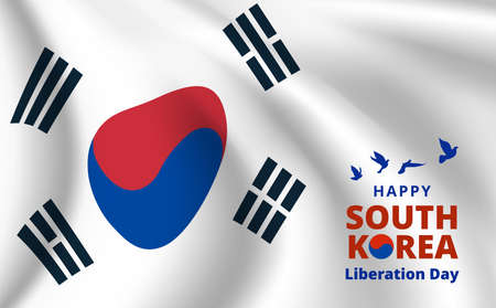 South Korea happy independence day banner. Vector illustration.