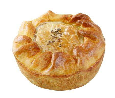 Handmade pie isolated on white background