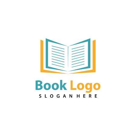 Book logo vector, creative education logo Logo