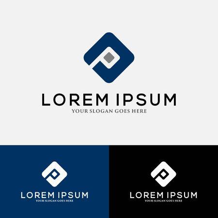 Letter P logo vector, icon design template elements