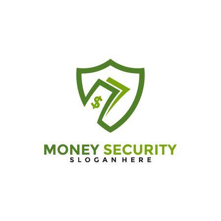 Money Security Logo Design Template.