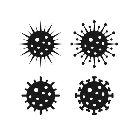 Coronavirus Bacteria Icon, 2019-nCoV Coronavirus Bacteria icon. Coronavirus outbreak Stop virus. Isolated vector icon of virus on white background for poster, banner, flyer. Archivio Fotografico - 150279989