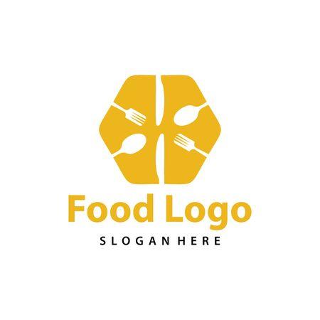 Food logo vector. Creative food logo vector Vettoriali