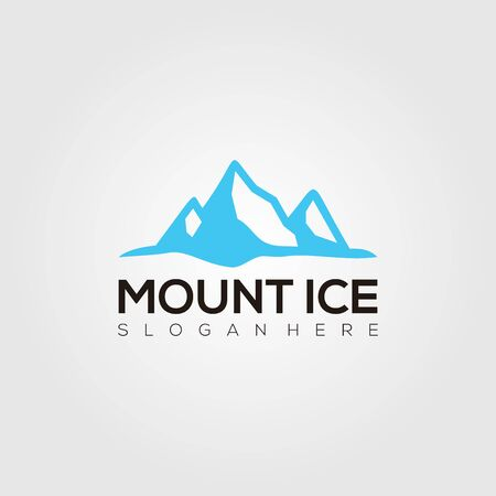 Mount Ice Logo Vector