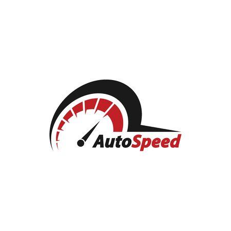 Auto speed logo vector Illustration