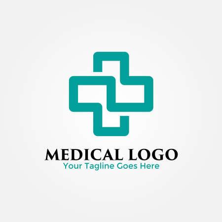 Medical Cross Logo Design Template. Vector Illustration.