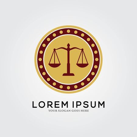 Law Firm / Legal logo Template Design Illustration