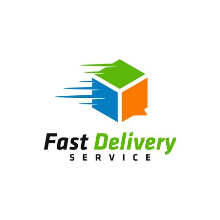 Fast Delivery services logo vector. Freight forwarding services logo design for business / company. 向量圖像