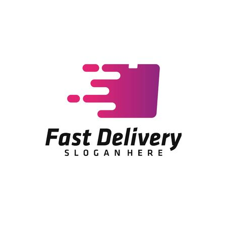 Delivery logo vector. Freight forwarding services logo design for business / company.