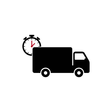 Time Delivery Truck icon design. Freight forwarding services logo design element.
