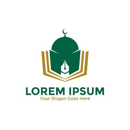 Islamic Learning Logo Design Template. Islamic School Logo. Islamic Education Logo. Vector Illustration. Ilustração