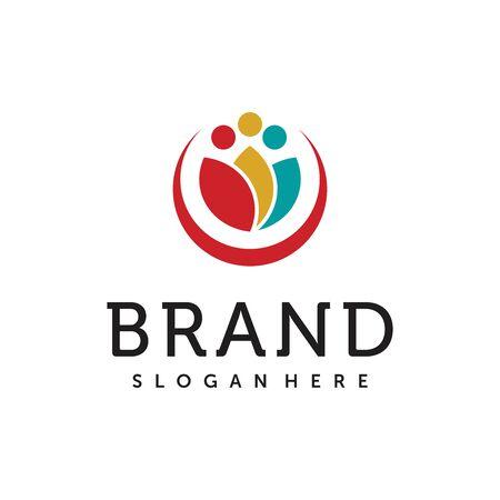 Beauty Salon Group Logo Vector