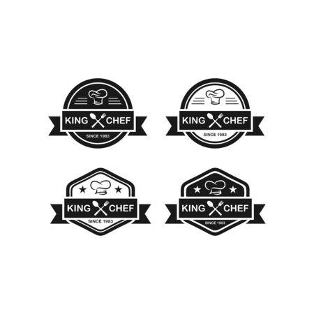 Restaurant / Chef Cap Logo Vector. Creative food logo vector. Isolated on white background. Vettoriali