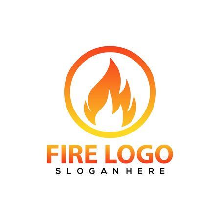 Fire logo vector, icon, symbol, illustration design template. Isolated on white background.