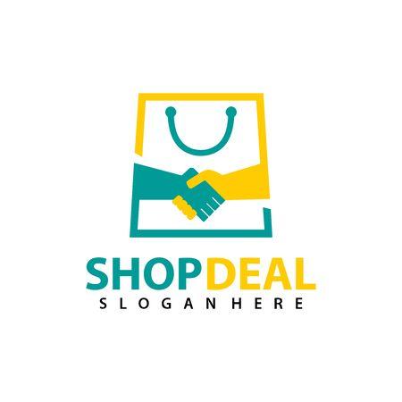 Shop Deal logo vector for business, Vector logo illustration design template