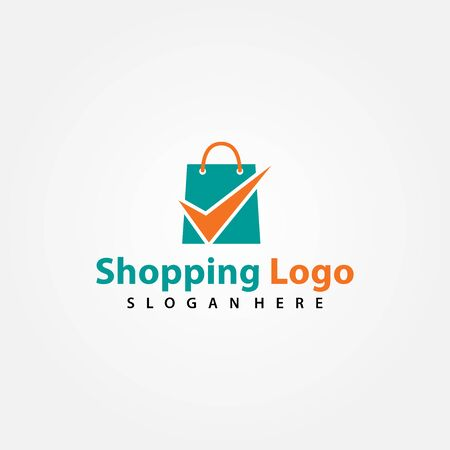 Shopping / Shop logo vector for business, Vector logo illustration design template Vettoriali