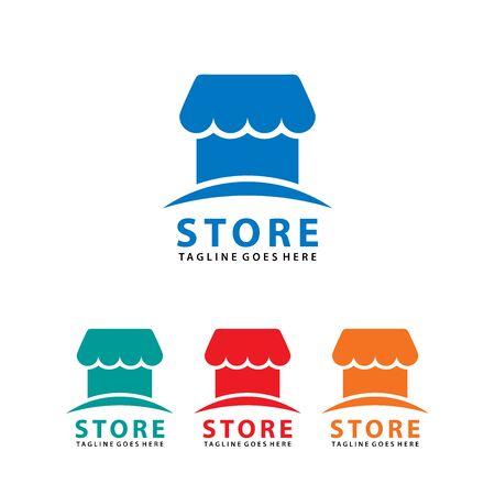Shop / Store logo vector for business, Vector logo illustration design template