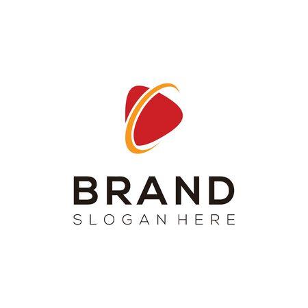 Video Logo Vector. Creative movie maker logo design. Vettoriali